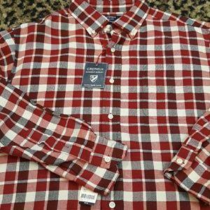 Cremieux red plaid Flannel long Holidayshirt garme